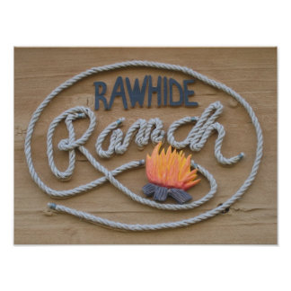 Ranch wood sign poster
