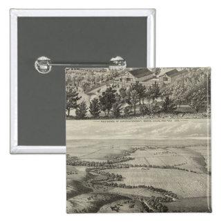 Ranche el condado de Chase, Kansas de Morse Pin Cuadrada 5 Cm