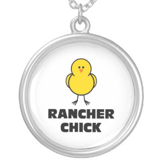 Rancher Chick Round Pendant Necklace