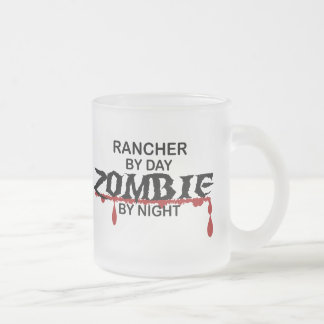 Rancher Zombie 10 Oz Frosted Glass Coffee Mug