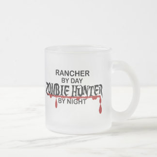 Rancher Zombie Hunter 10 Oz Frosted Glass Coffee Mug