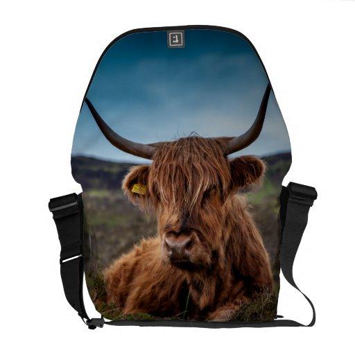 Ranchero escocés de Bull del fonolocalizador de bo Bolsas De Mensajeria
