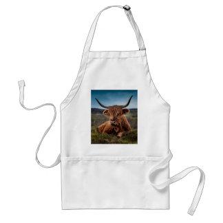 Ranchero escocés de Bull del fonolocalizador de bo Delantal