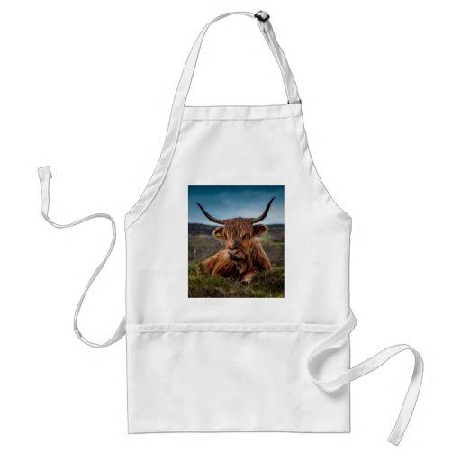 Ranchero escocés de Bull del fonolocalizador de bo Delantales