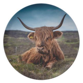 Ranchero escocés de los fonolocalizadores de plato