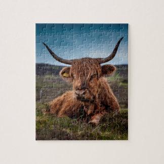Ranchero escocés de los fonolocalizadores de puzzle con fotos