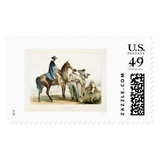 Rancheros Postage Stamp