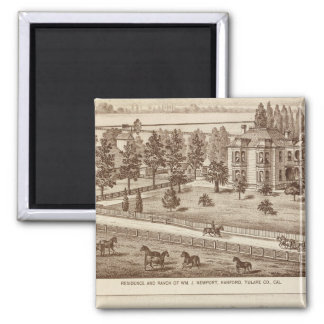 Ranches, Hanford, Cal 2 Inch Square Magnet