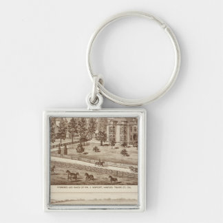 Ranches, Hanford, Cal Silver-Colored Square Keychain
