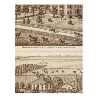 Ranches, Hanford, Cal Postcard