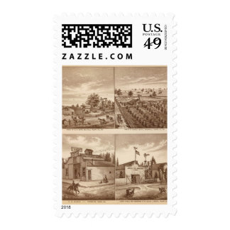 Ranches, stables, Tulare Co, Cal Postage Stamps