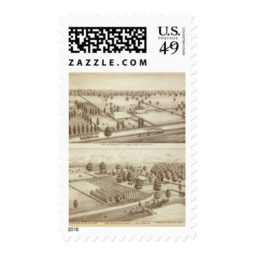 Ranches, Visalia, Cal Postage Stamps