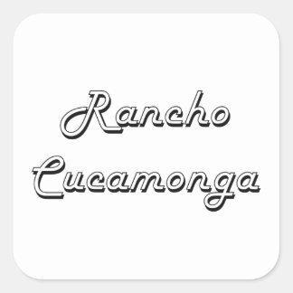 Rancho Cucamonga California Classic Retro Design Square Sticker