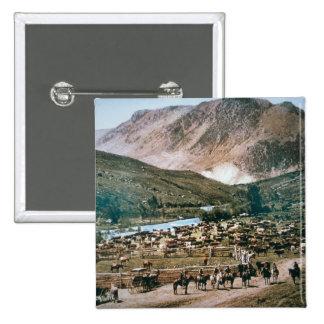 Rancho de ganado, Colorado, 1899 (foto) Pin Cuadrada 5 Cm
