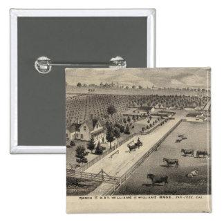 Rancho de Williams, mina de Goodrich Pin Cuadrado