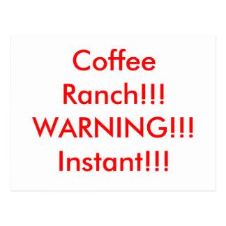 Rancho del café postal