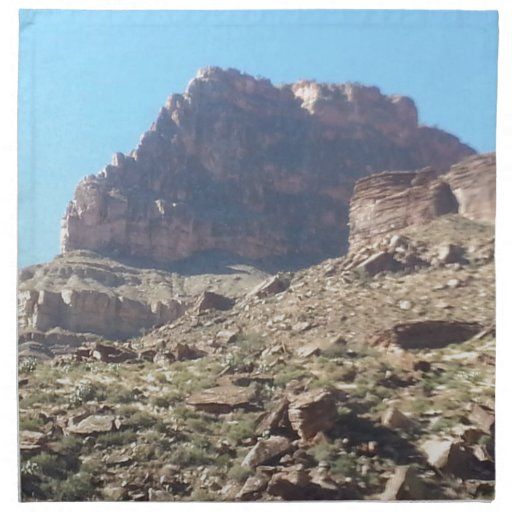 Rancho del sur del fantasma del parque nacional de servilleta de papel