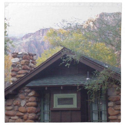 Rancho del sur del fantasma del parque nacional de servilleta imprimida