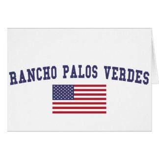 Rancho Palos Verdes US Flag Card