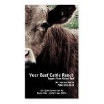 Rancho principal de la carne de vaca de la vaca tarjeta de negocio