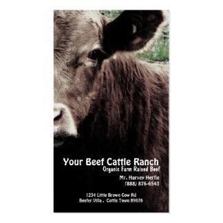 Rancho principal de la carne de vaca de la vaca tarjetas de visita