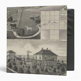 """Rancho y residencia, Kansas de Isaac Mulholland Carpeta 1 1/2"""""""