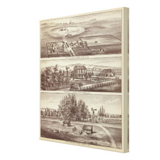 Ranchos del álamo impresión en lienzo estirada