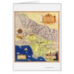 Ranchos españoles y mexicanos del mapa de Los Ánge Tarjetas