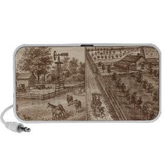 Ranchos, establos, Tulare Co, caloría iPod Altavoces