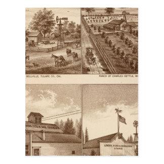 Ranchos, establos, Tulare Co, caloría Postal