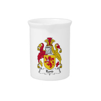 Rand Family Crest Beverage Pitchers