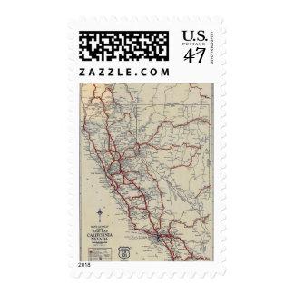 Rand McNally Junior Road Map California and Nevada Postage