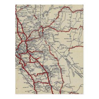 Rand McNally Junior Road Map California and Nevada Postcard
