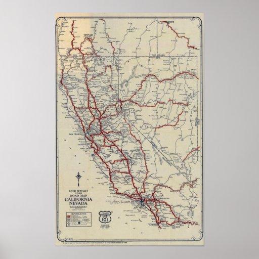 Rand McNally California State Map Rand McNally