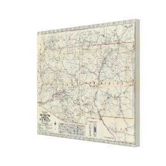 Rand McNally Official 1925 Auto Trails Canvas Print