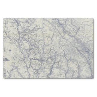 """Rand McNally Official 1925 Auto Trails Map 2 10"""" X 15"""" Tissue Paper"""