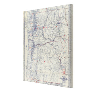 Rand McNally Official 1925 Auto Trails Map Canvas Print