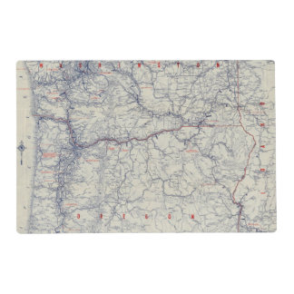 Rand McNally Official 1925 Auto Trails Map Placemat