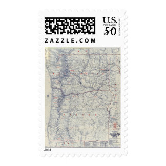 Rand McNally Official 1925 Auto Trails Map Postage
