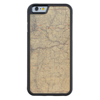 Rand McNally Official 1925 Auto Trails Map Carved® Maple iPhone 6 Bumper Case