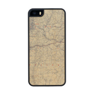 Rand McNally Official 1925 Auto Trails Map Carved® Maple iPhone 5 Slim Case