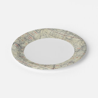 Rand McNally Official 1925 Auto Trails 7 Inch Paper Plate