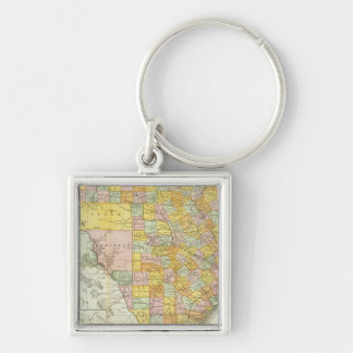 Rand McNally Railroad And County Map Of Texas Keychain