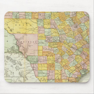 Rand McNally Railroad And County Map Of Texas Mouse Pad
