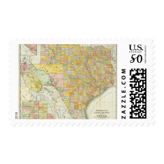 Rand McNally Railroad And County Map Of Texas Postage