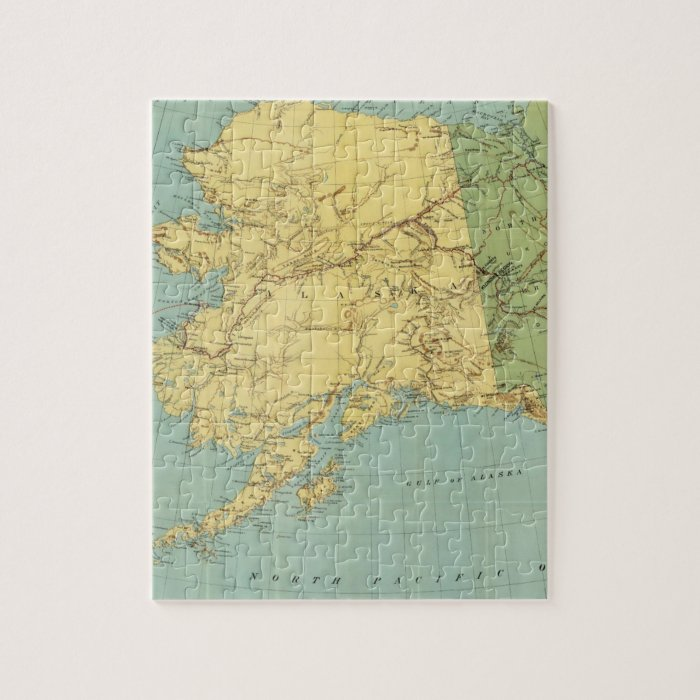 Rand McNally's Map Of Alaska Jigsaw Puzzle | Zazzle