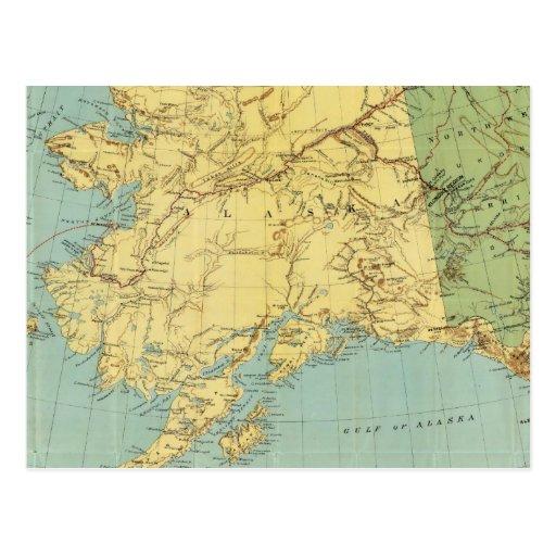 Rand McNally's Map Of Alaska Postcard