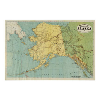 Rand McNally's Map Of Alaska Poster