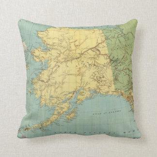 Rand McNally's Map Of Alaska Throw Pillow