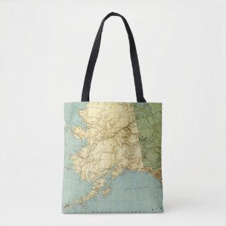 Rand McNally's Map Of Alaska Tote Bag